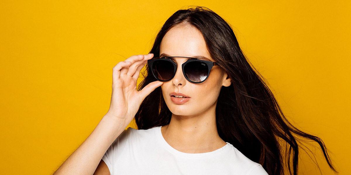 woman wearing luux sunglasses